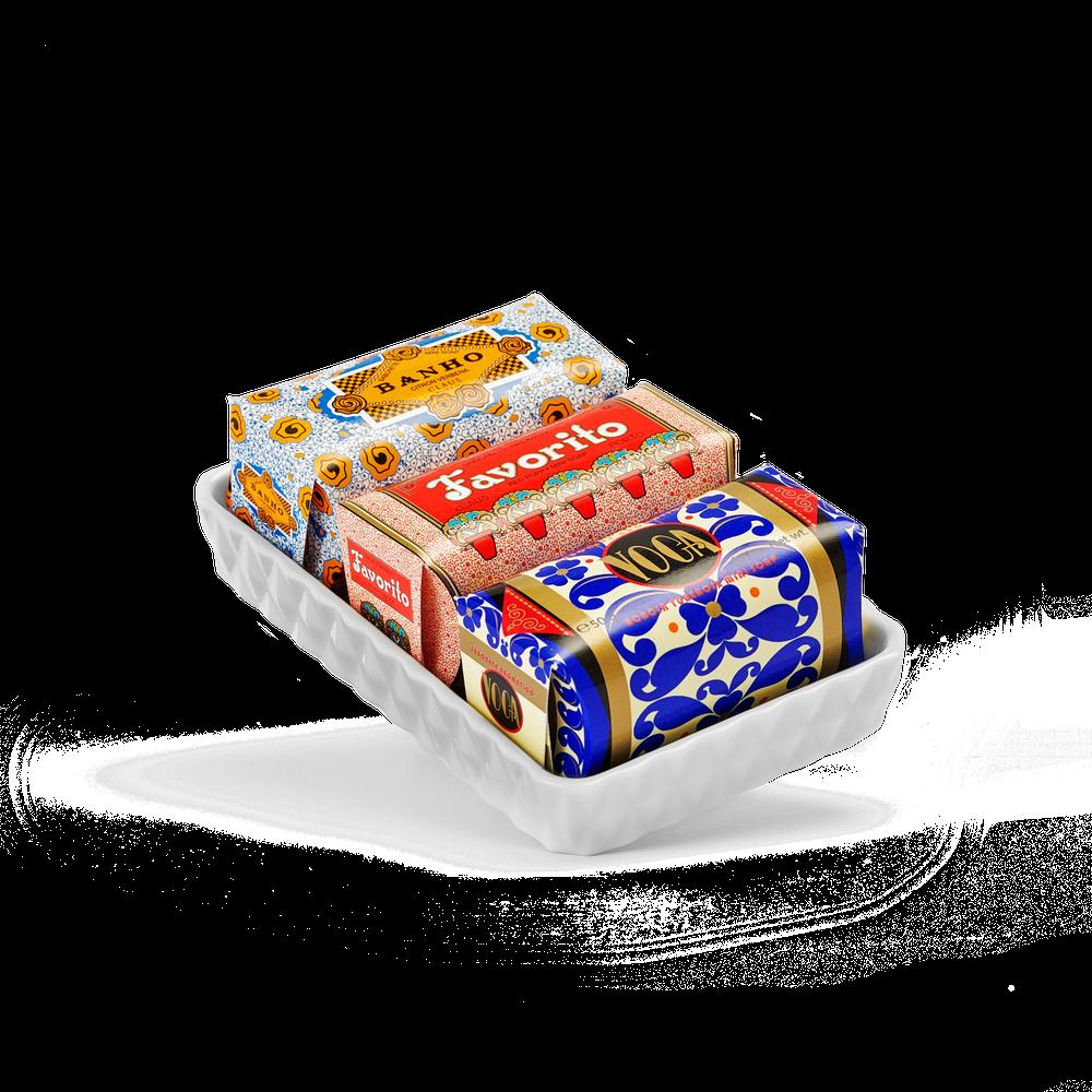 Gift Set Saboneteira & Mini Sabonetes